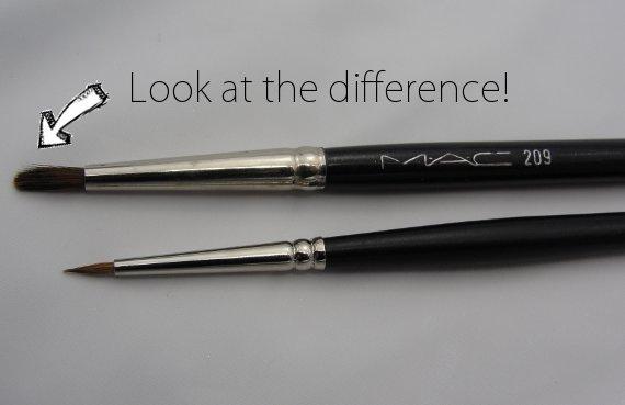 best mac brush for winged eyeliner