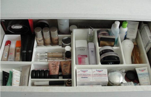 how to organise makeup