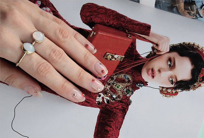jenny packham aw15 nails