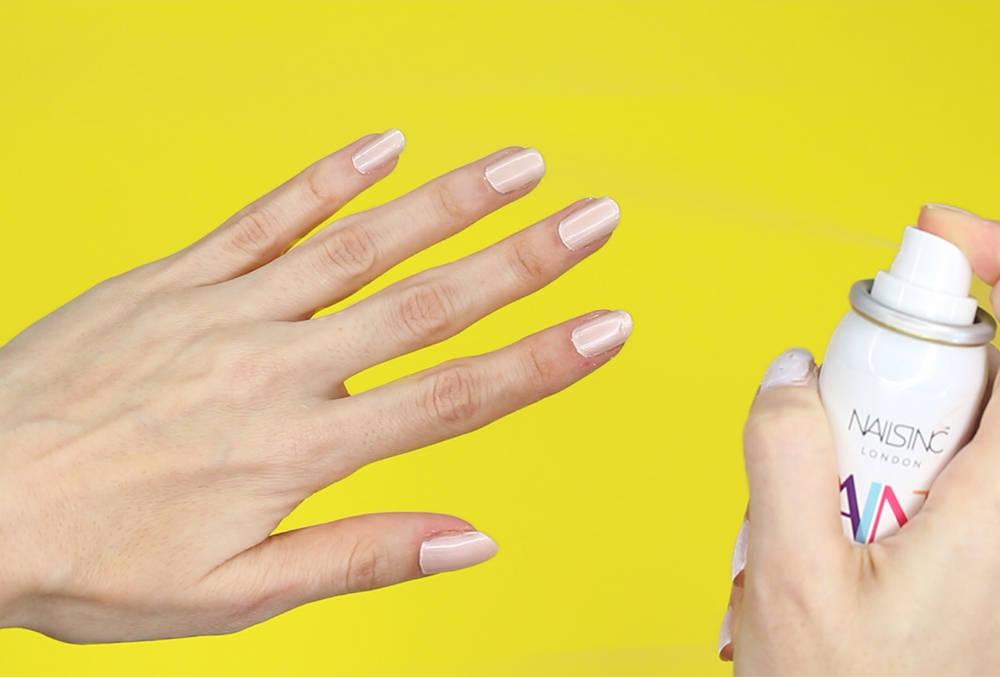 Nails Inc Spray On Polish - Mayfair Lane | Review and DIY Nail Hack