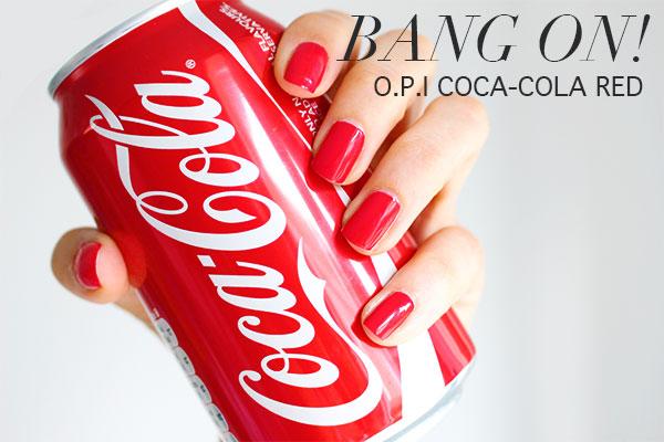 O.P.I COCA-COLA RED NAIL POLISH