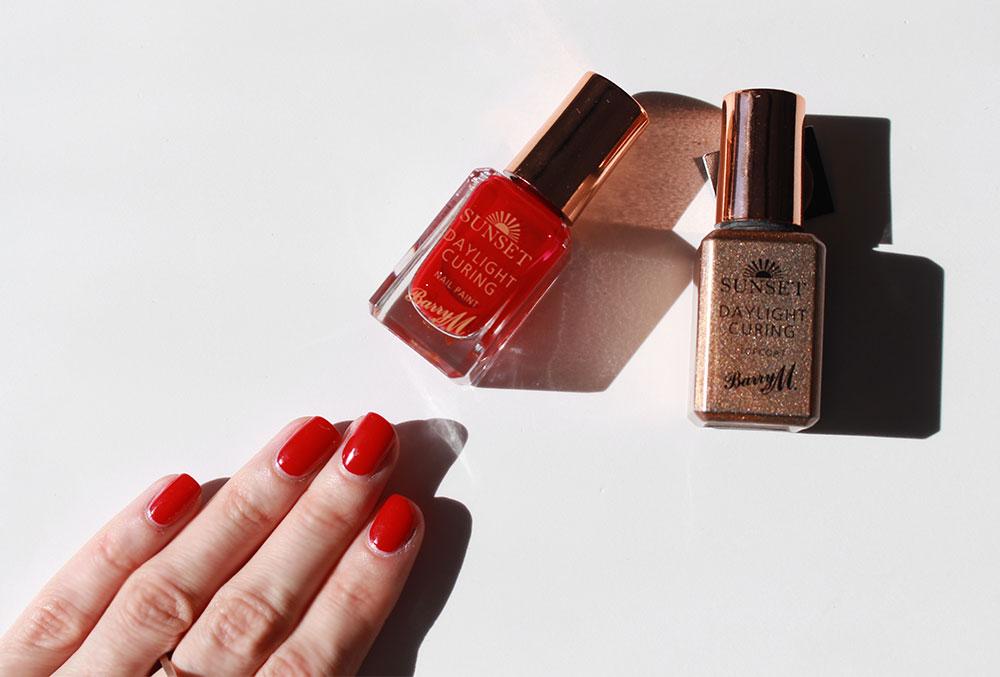 barry m sunset daylight curing nail polish