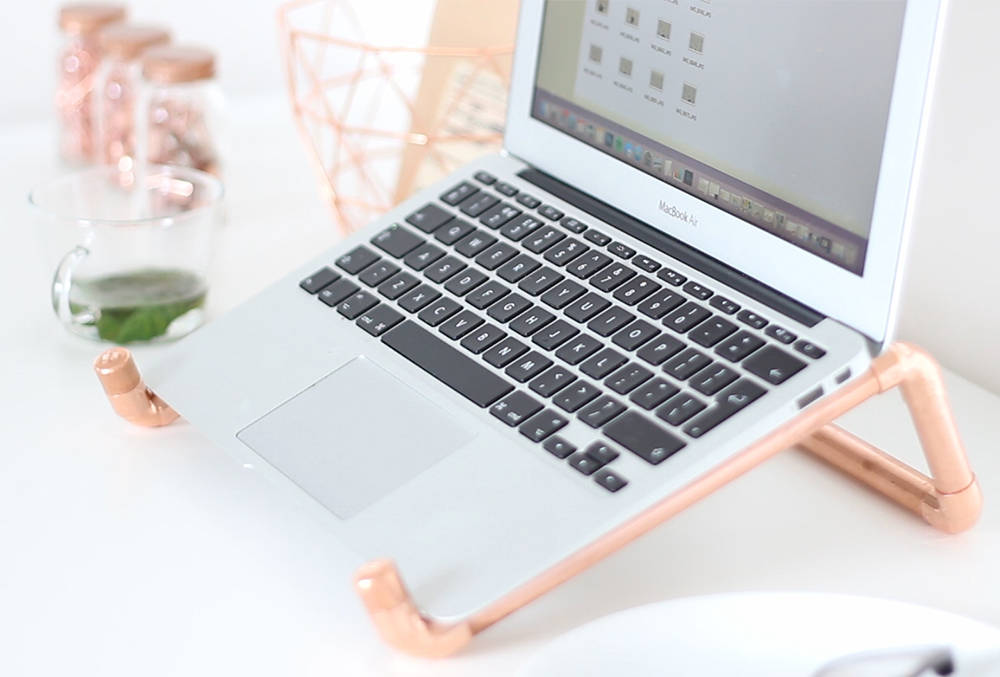 DIY Copper Pipe Laptop Stand