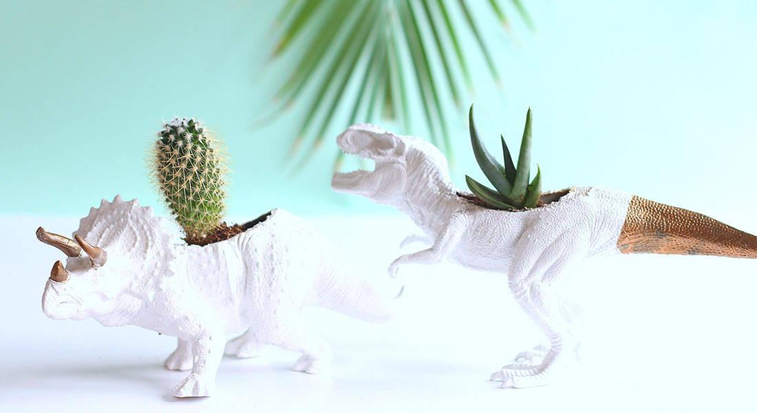 Dino planters